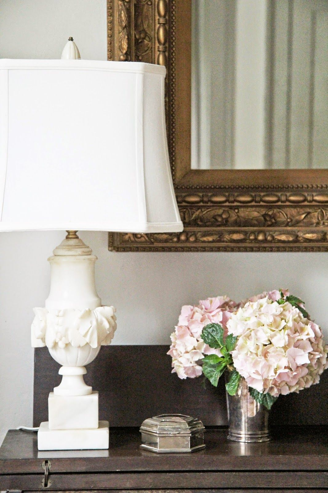 A Country Farmhouse A New Lamp Alabaster Lamp Shabby Chic Lamp Shades Antique Lamp Shades