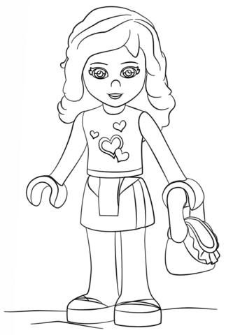 Lego Friends Olivia Coloring Page Lego Coloring Pages Lego Coloring Lego Friends