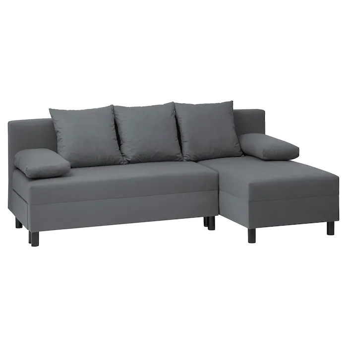 Angsta Sofa Bed With Chaise Longue Dark Grey Ikea Sofa Bed With Chaise Sofa Bed Ikea