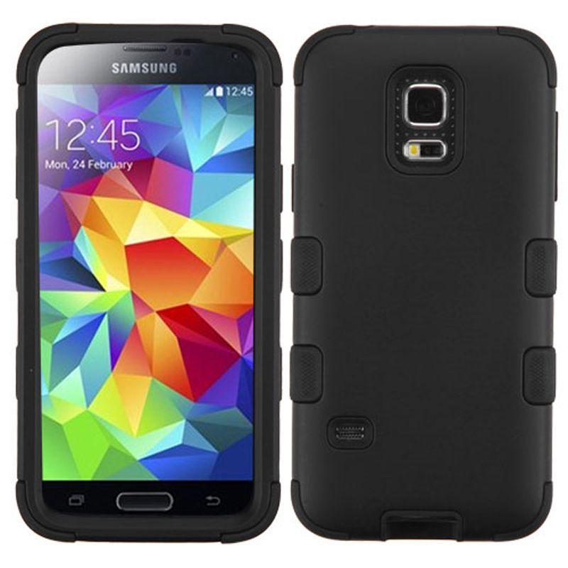 Insten Tuff Hard PC/ Silicone Dual Layer Hybrid Rubberized Matte Phone Case Cover For Samsung Galaxy S5 Mini