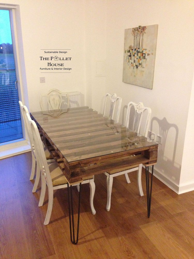Dining Room Table Made Of Salvage Pallet