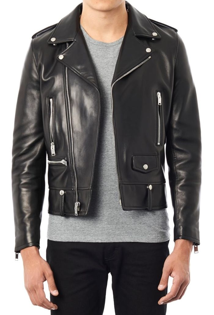 5f4105d3d12 YSL Biker Leather Jacket |