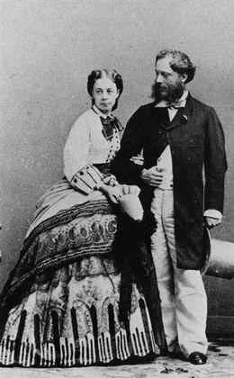 Photo DAndre Disderi Carte De Visite Monsieur Et Madame Paul Metternich Vers 1861