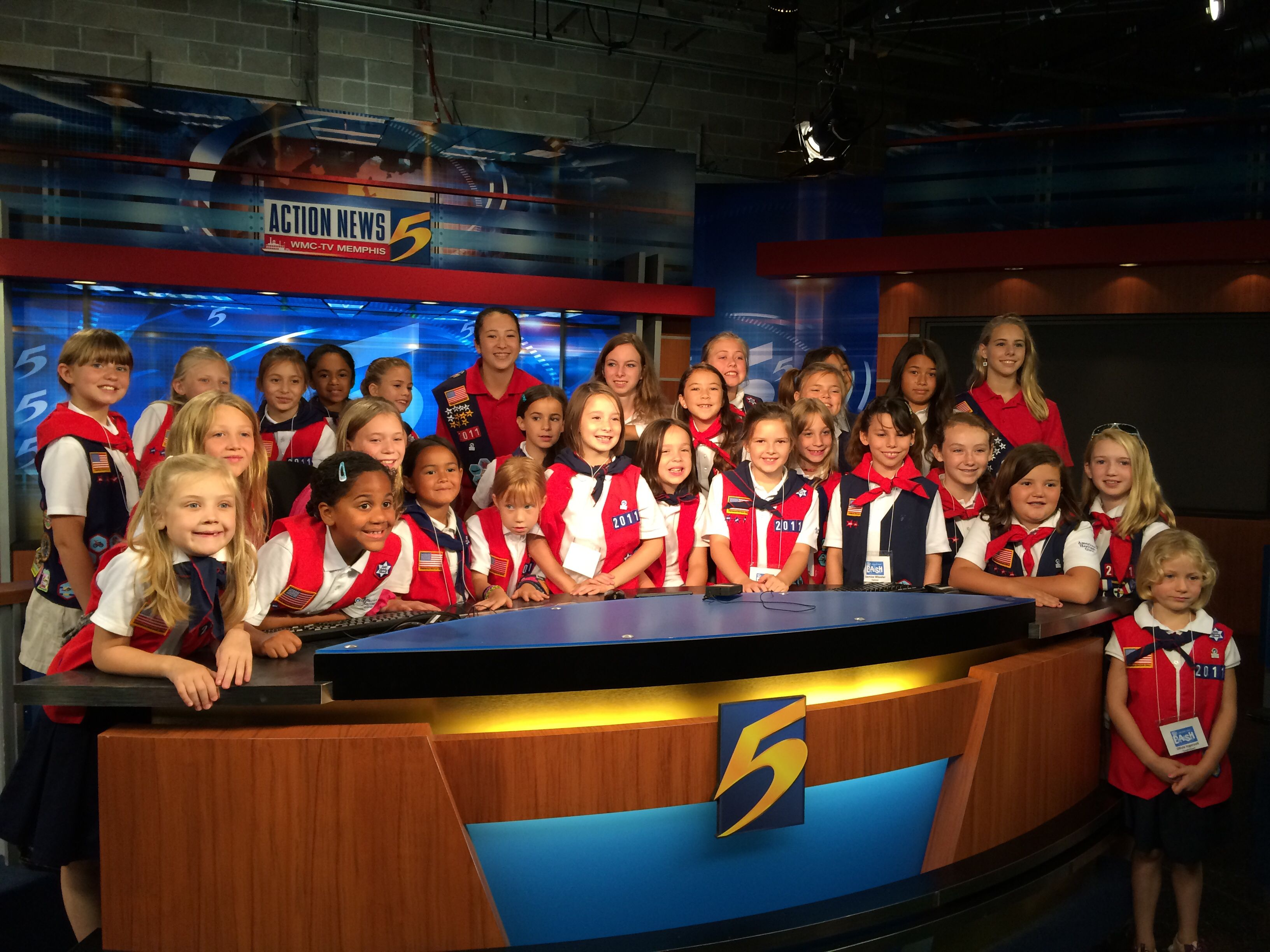Channel 5 Wmctv Memphis And American Heritage Girls Scout