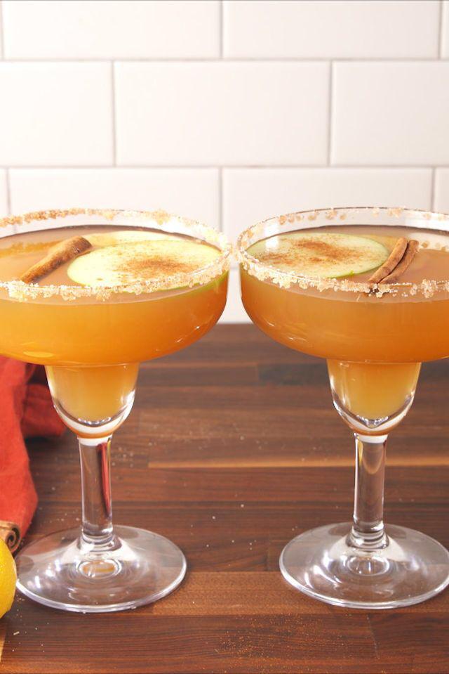 Apple Cider Margaritas #spikedapplecider