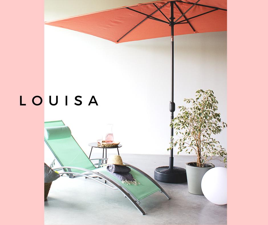 Transat Louisa et parasol Touquet Alice\'s Garden #transat ...