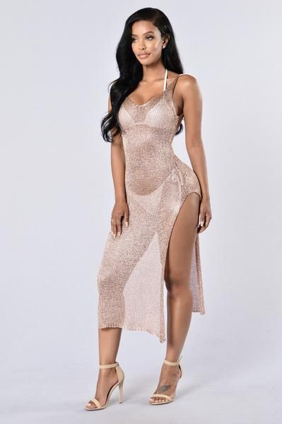 d861abcf85 Fiji Cover Up Dress - Rose Gold | Fashion killa | Fashion, Gold ...