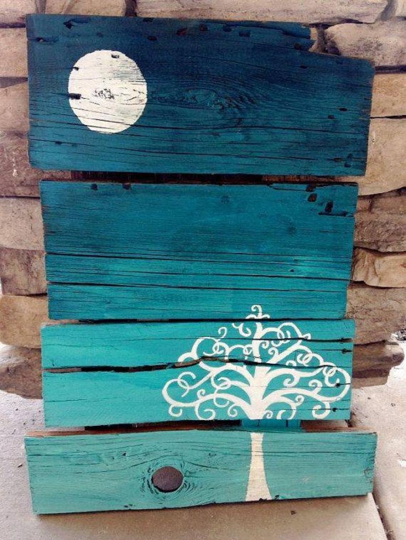 faites des uvres d 39 art de r cup de bois de palettes 14 id es pinterest le net ce sera et. Black Bedroom Furniture Sets. Home Design Ideas