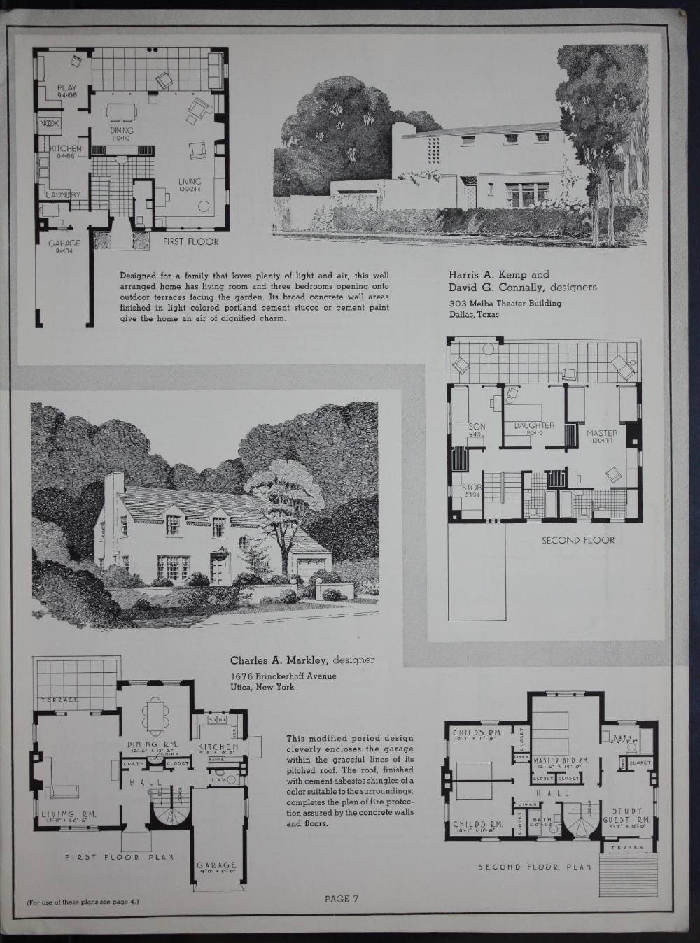 Designed For Concrete 55 Selected Designs From The 1936 Pencil Points Portland Cement Association Architectural Competition For The Design Of Firesafe Concr Architectural Competition Portland Cement Architecture