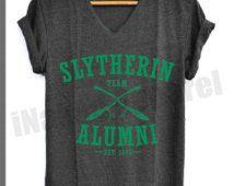 Slytherin Alumni Shirt Harry Potter Shirts V-Neck Unisex S M L