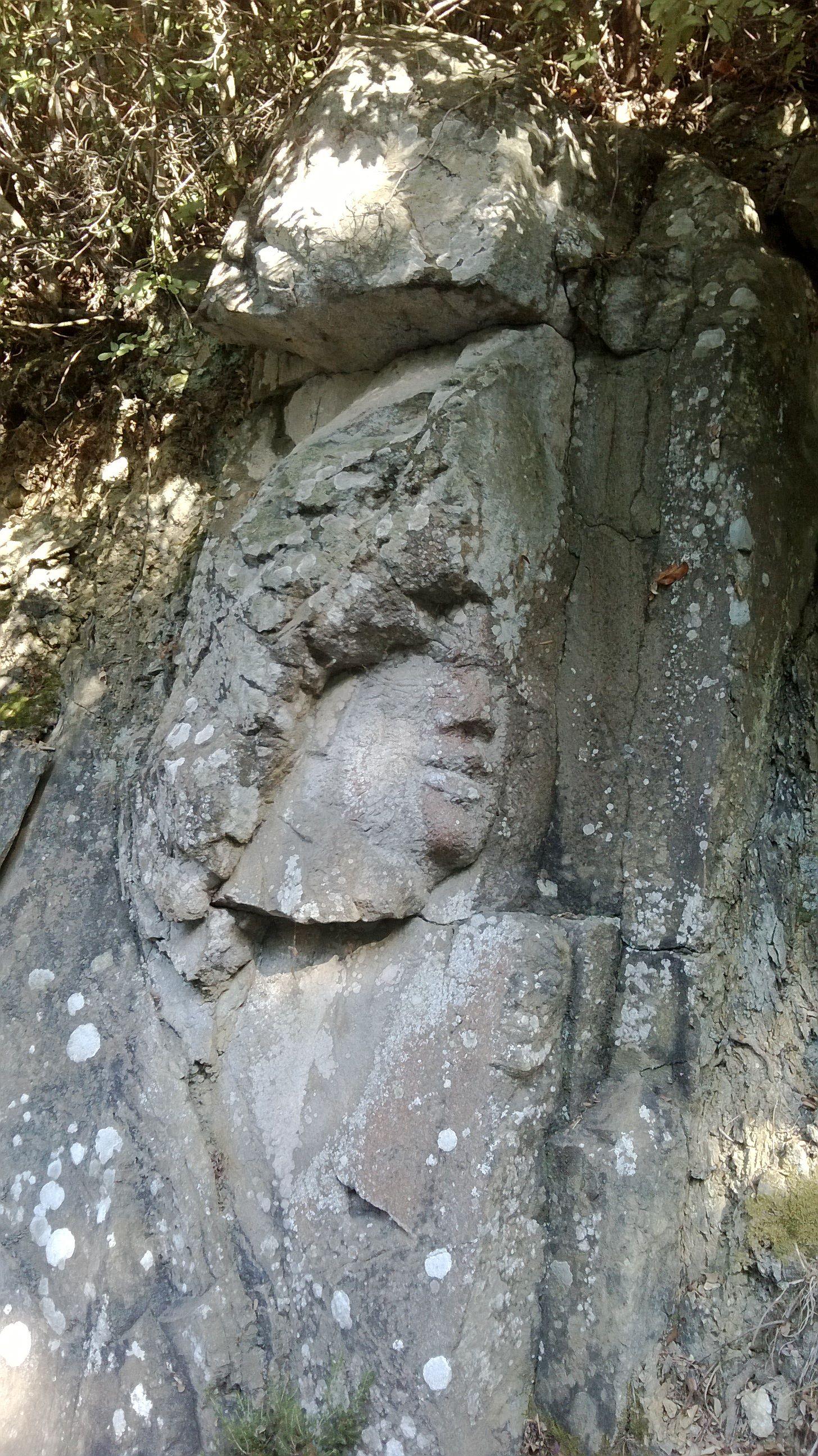 """La """"faccia"""", sulla salita per l'Acropoli"""