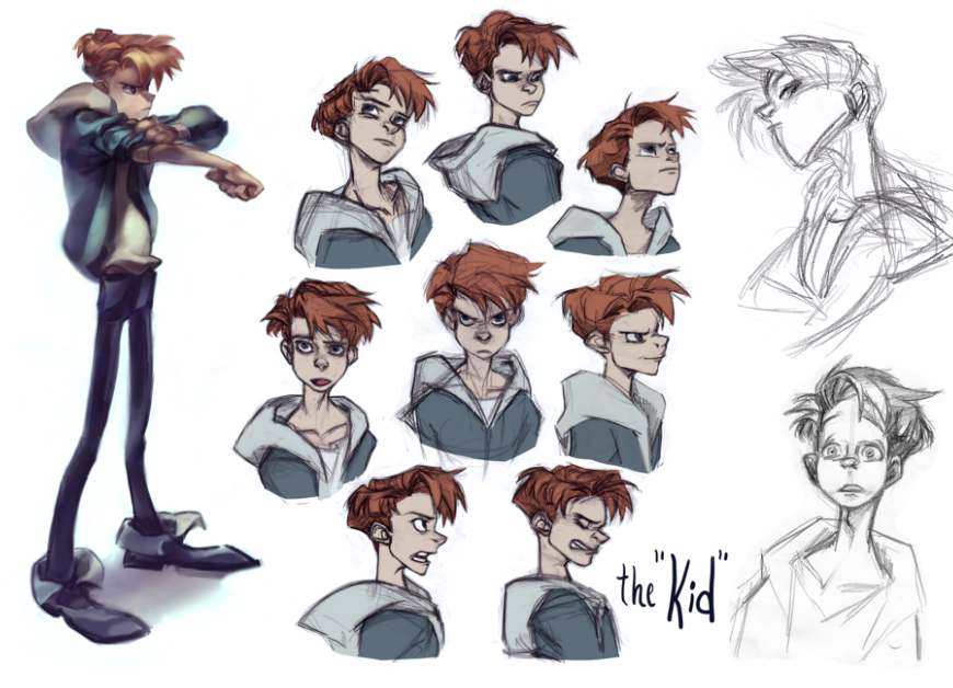 Character Design Expression : The kid expression sheet by kimchii on deviantart