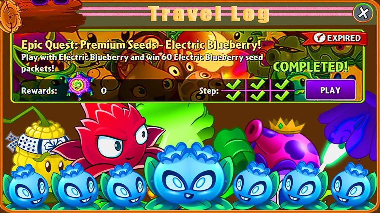 Plants Vs Zombies 2! Epic Quest Premium Seeds-Electric