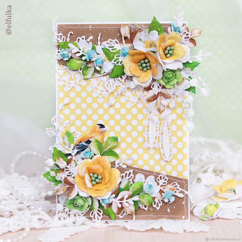 Днем рождения, открытка ручной работы для бабушки