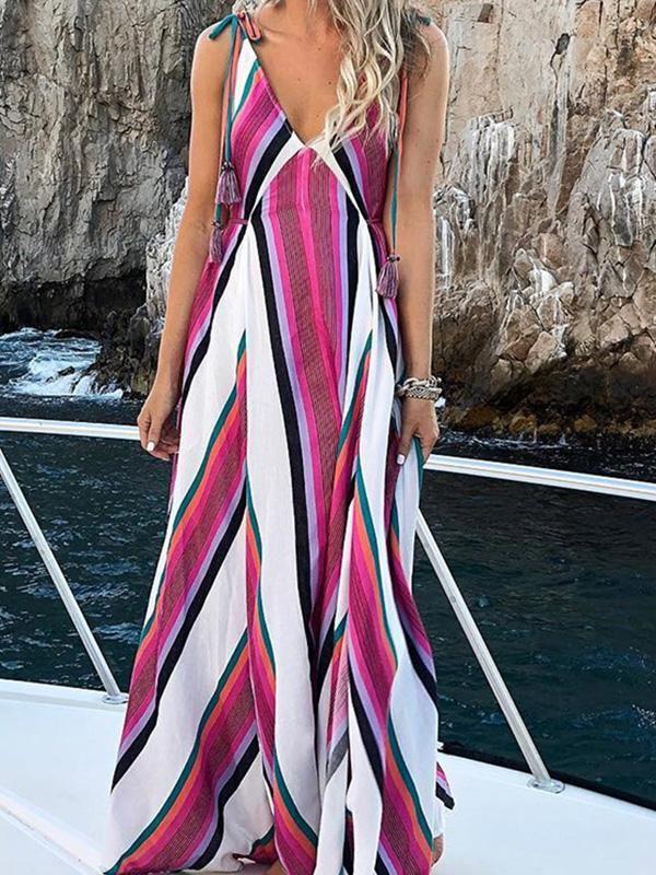 Elegant Fashion Floral Print Maxi Dress