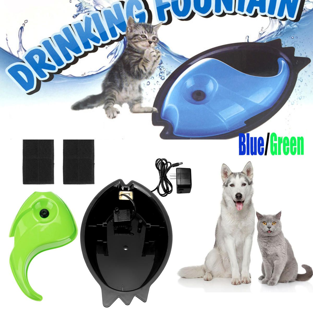 Pet Puppy Electric Circulating Drinking Water Fountain