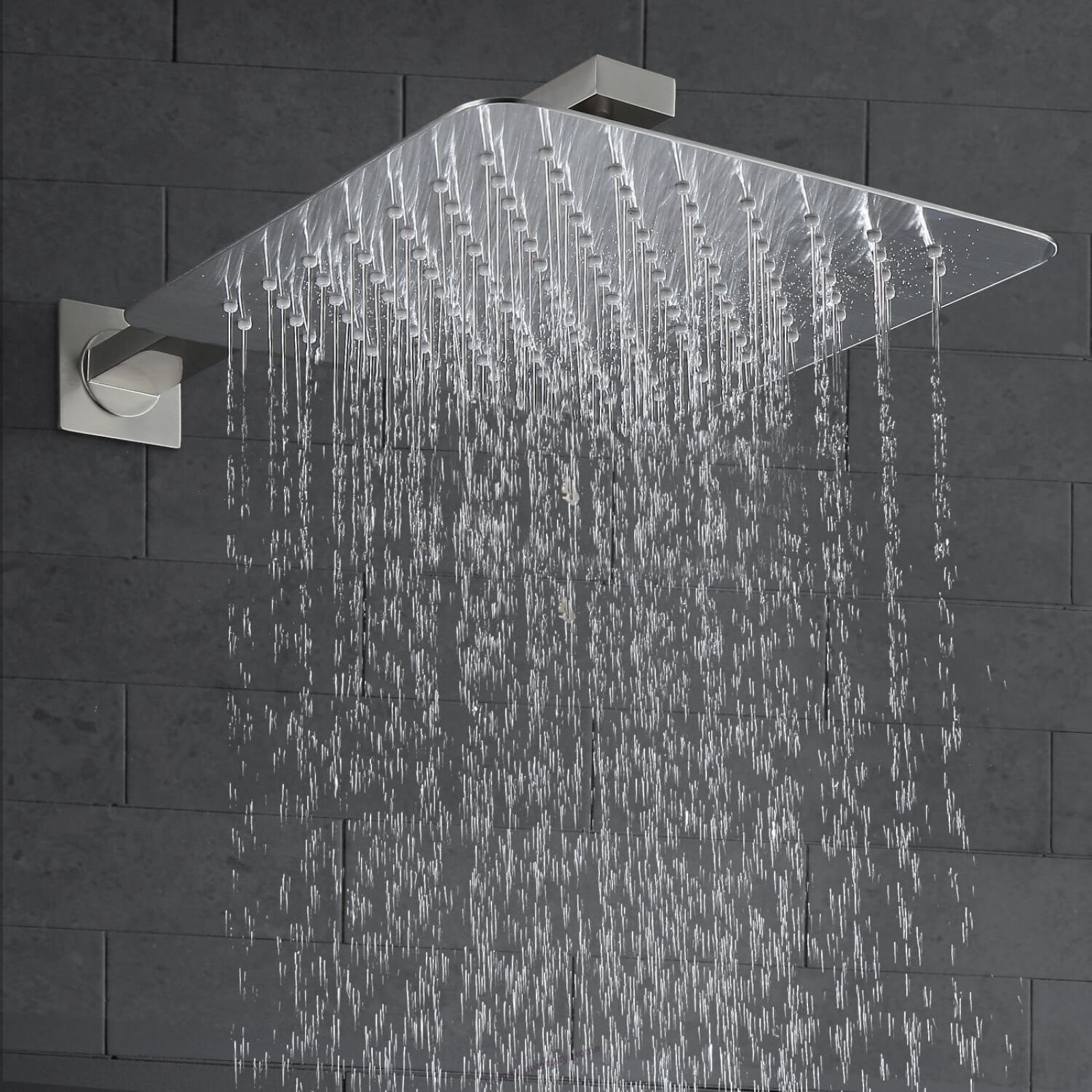 Luxury Rain Shower System Wall Mounted Shower Combo Set With High