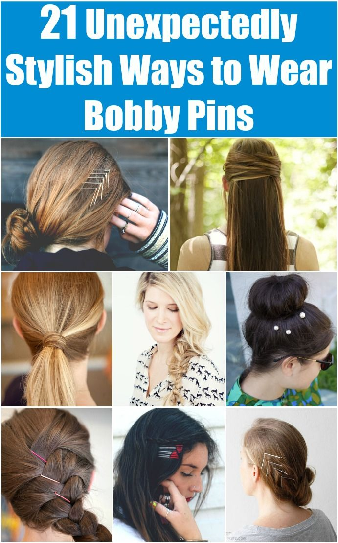 21 Unexpectedly Stylish Ways To Wear Bobby Pins Diy Crafts Hair Styles Stylish Hair Diy Hairstyles