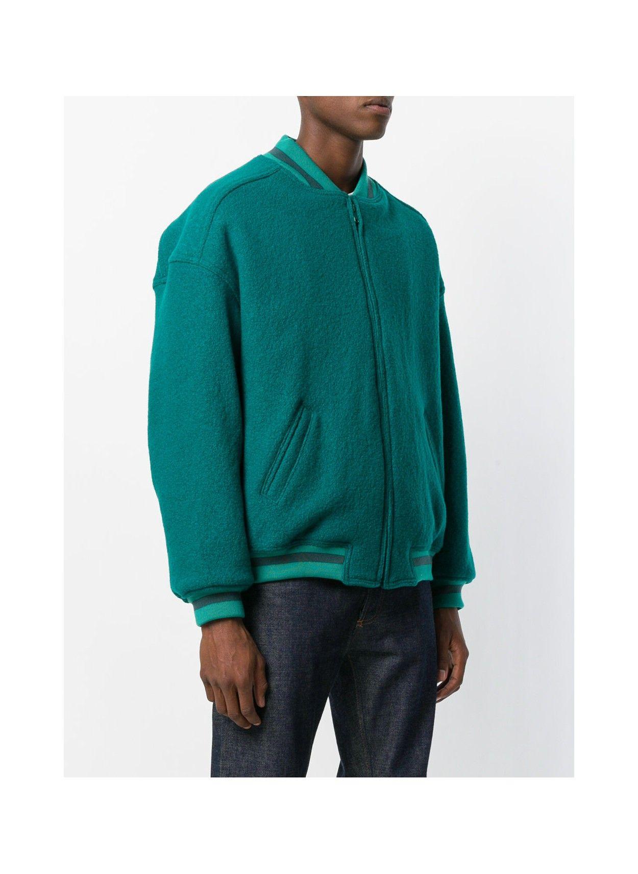 Virgin Wool Classic Bomber Teal Yeezy Season 5 Yeezy Season Yeezy Fitness Fashion [ 1711 x 1250 Pixel ]