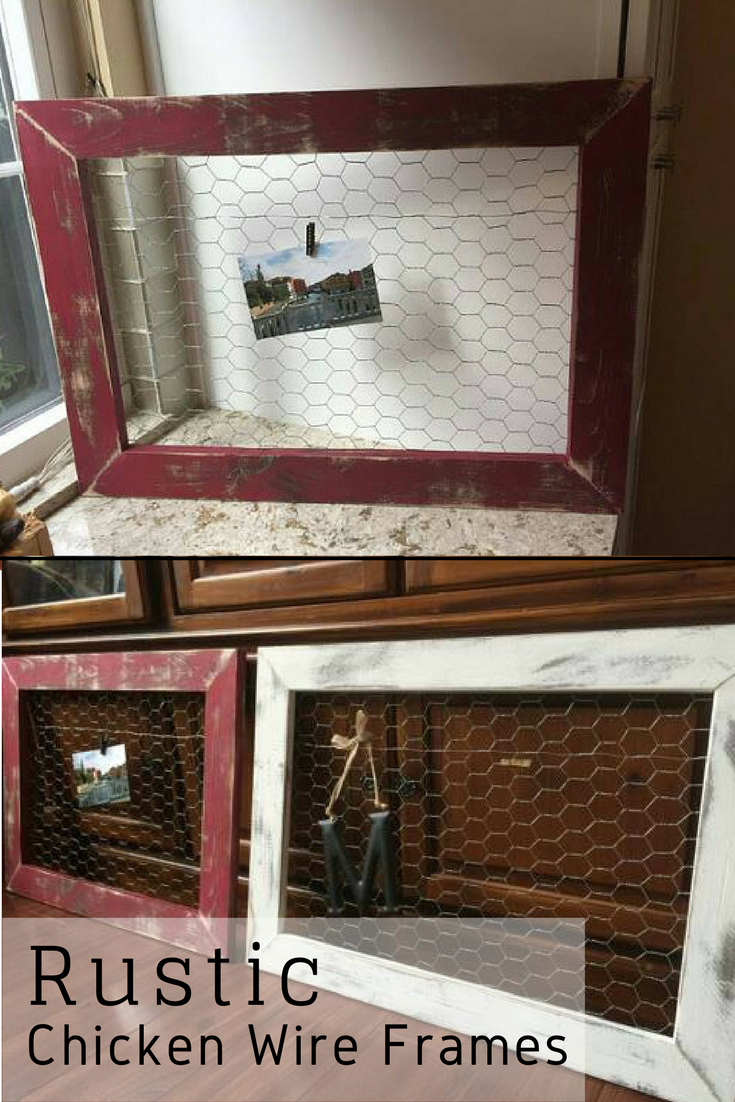 $20 Distressed Chicken Wire Frame (Standard Size) for photos and ...