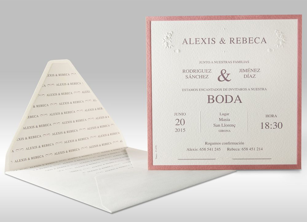Vintage - Invitaciones de boda You and Me