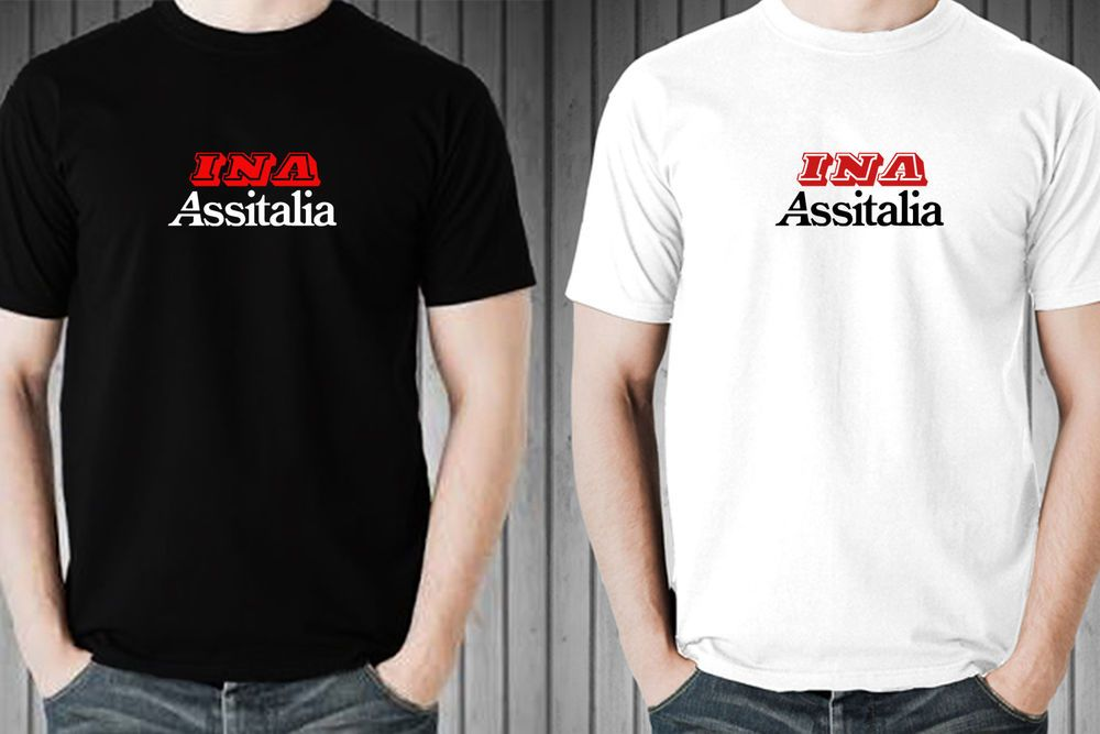 6aaae7f3d INA ASSITALIA LOGO BRAND personalized tee 100% cotton men black white t- shirt #fashion #clothing #shoes #accessories #mensclothing #shirts (ebay  link)