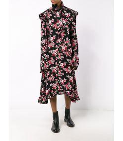 Vetements Floral Ruffle Dress