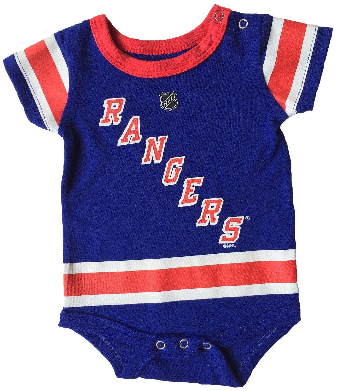c7a2a955a91 Amazon.com: NHL Unisex Baby New York Rangers Hockey 3 Piece Creeper Set , 3-6M:  Baby