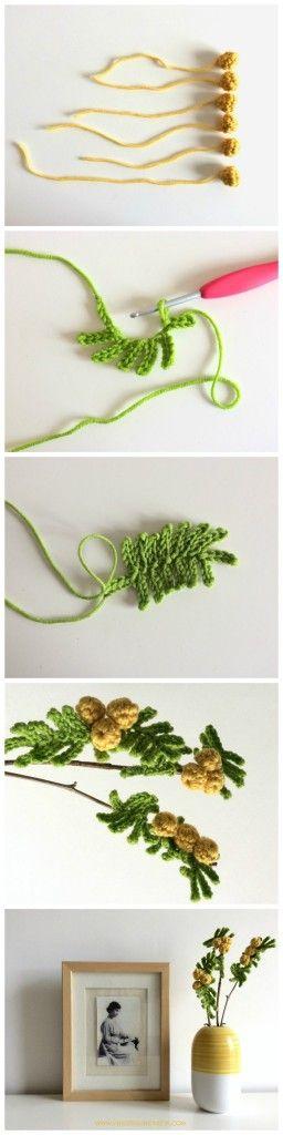 Crochet Mimose , full ITA+ ENG tutorial on www.vendettauncinetta.com