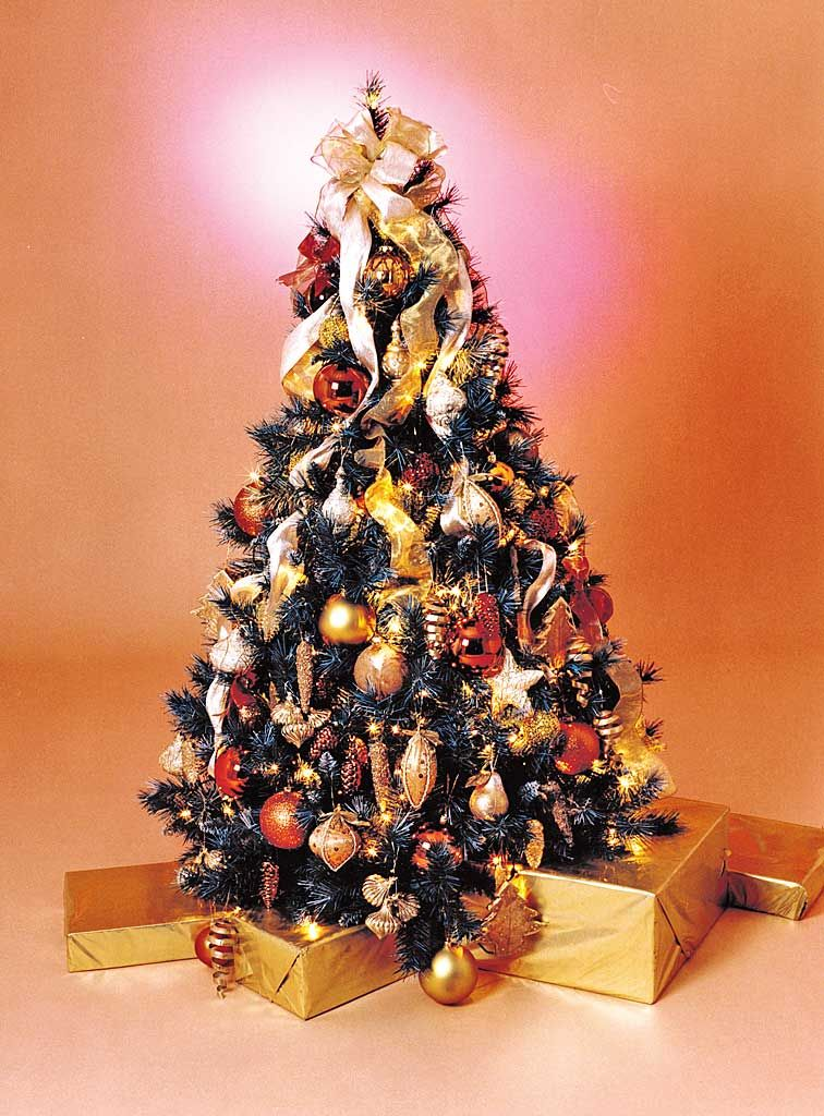 Vintage Christmas Trees Antique Gold Tree