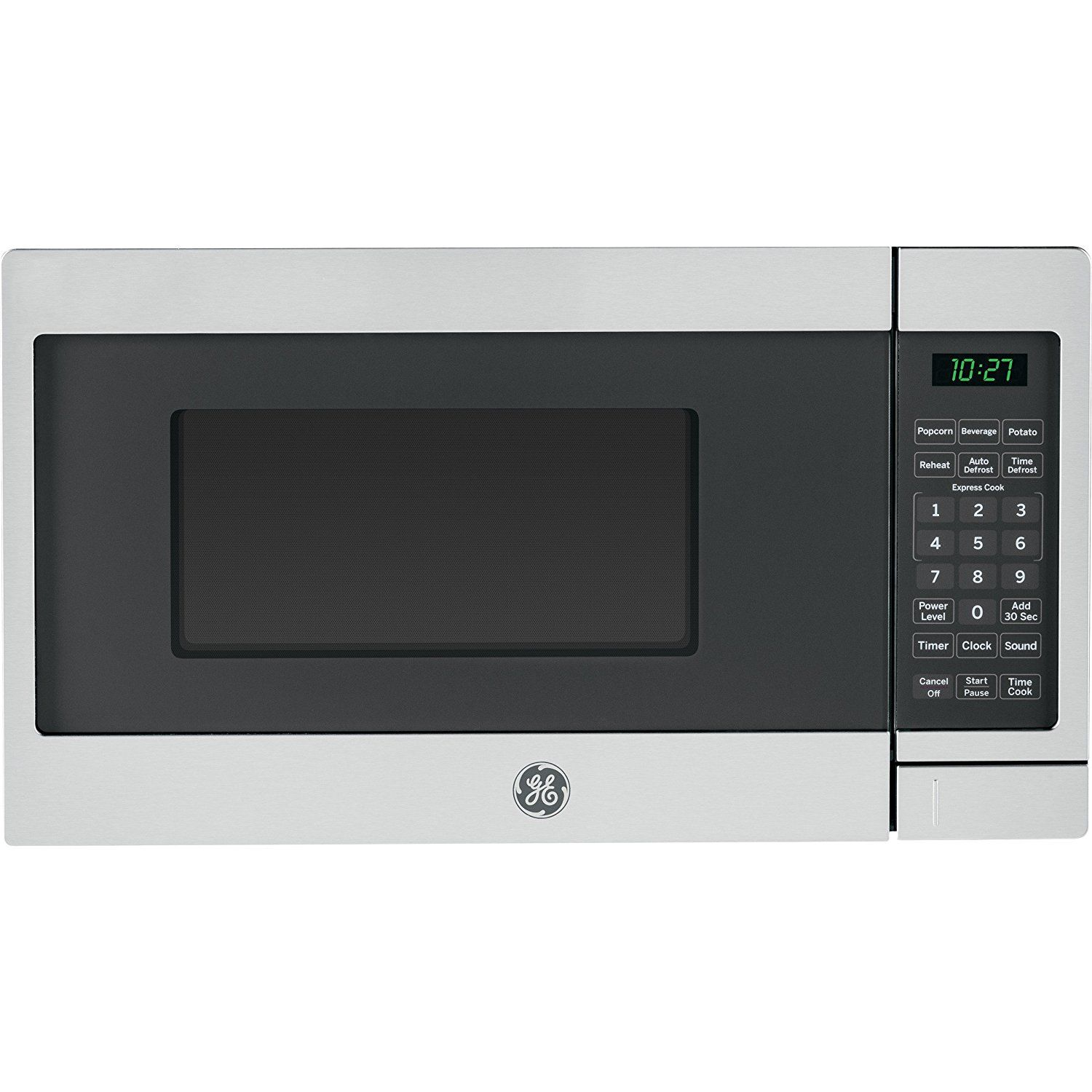 Ge Jes1072shss 0 7 Cu Ft Capacity Countertop Microwave Oven With Auto And Time Defro Countertop Microwave Oven Countertop Microwave Stainless Steel Microwave