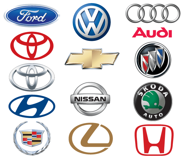 All Cars Logo With Name: Famous Car Brand Logos Vector