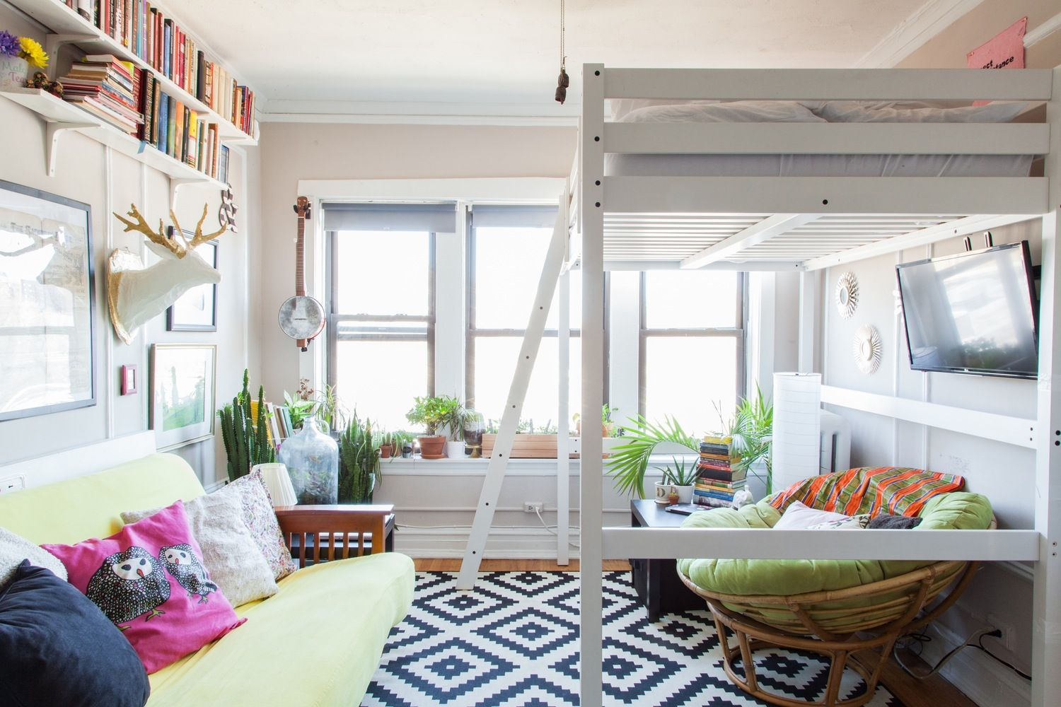 Loft bed ideas for small spaces  Small Space Solutions  Ideas to Steal From Stylish Studios