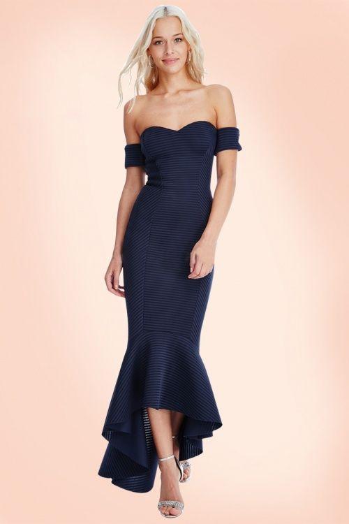 Bardot kleid gestreift