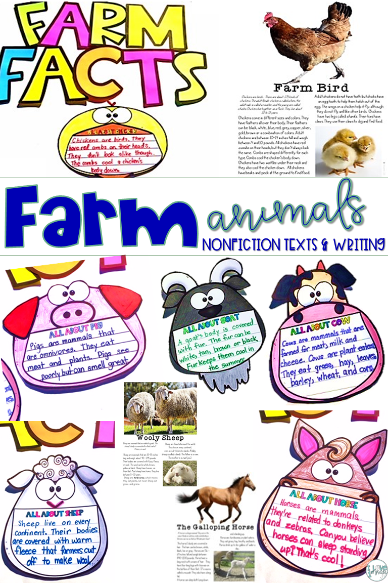 Farm Animals Writing and Reading Reading passages
