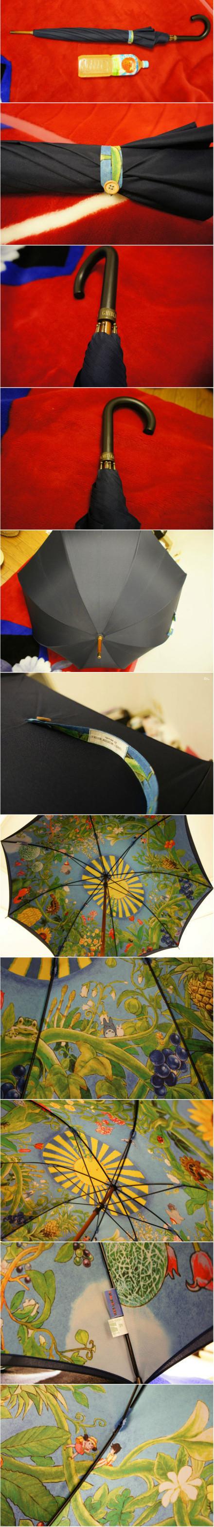 Black umbrella with #Totoro scenes inside. WANT it!