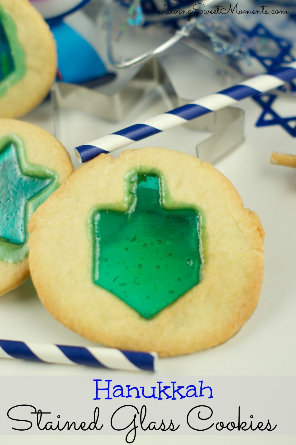 Delicious Hanukkah stained glass cookies. So easy to make and fun with kids! Create this delicious effect in few easy steps. Sweet, crumbly and oh so yummy.