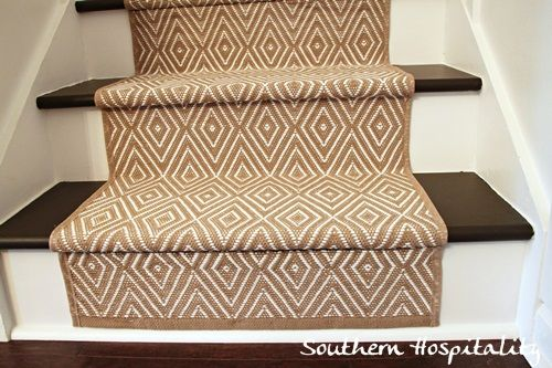 Painted Stairs and adding Runners | Southern Hospitality