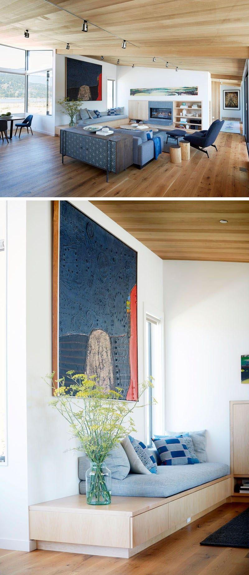 Innerhalb dieses moderne Haus breites Brett Eiche wird auf dem Boden ...