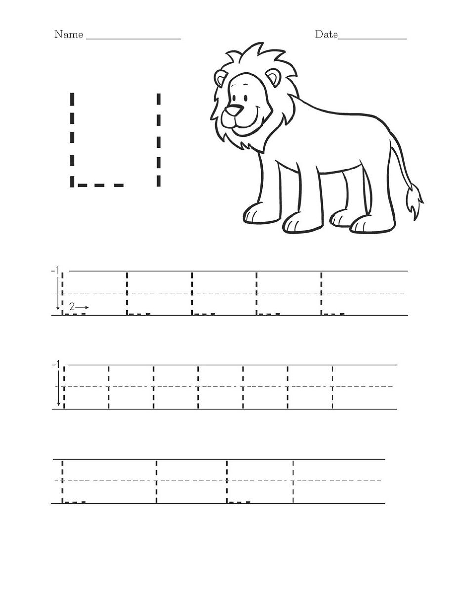 activity worksheets to print alphabet and numbers learning letter l worksheets handwriting. Black Bedroom Furniture Sets. Home Design Ideas