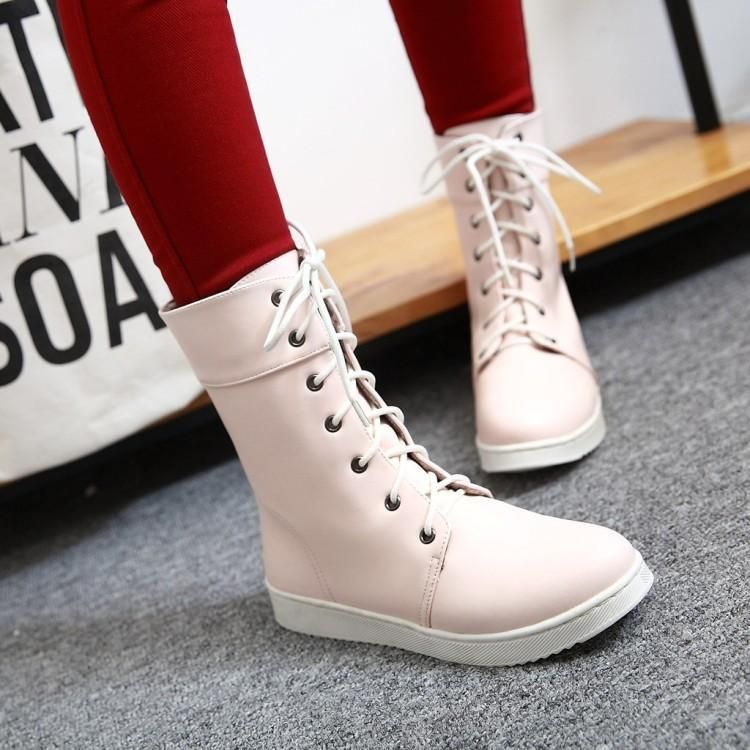 8a9eed687250 Korean casual flat boots shoes SD00239 - SYNDROME - Cute Kawaii Harajuku  Street Fashion Store