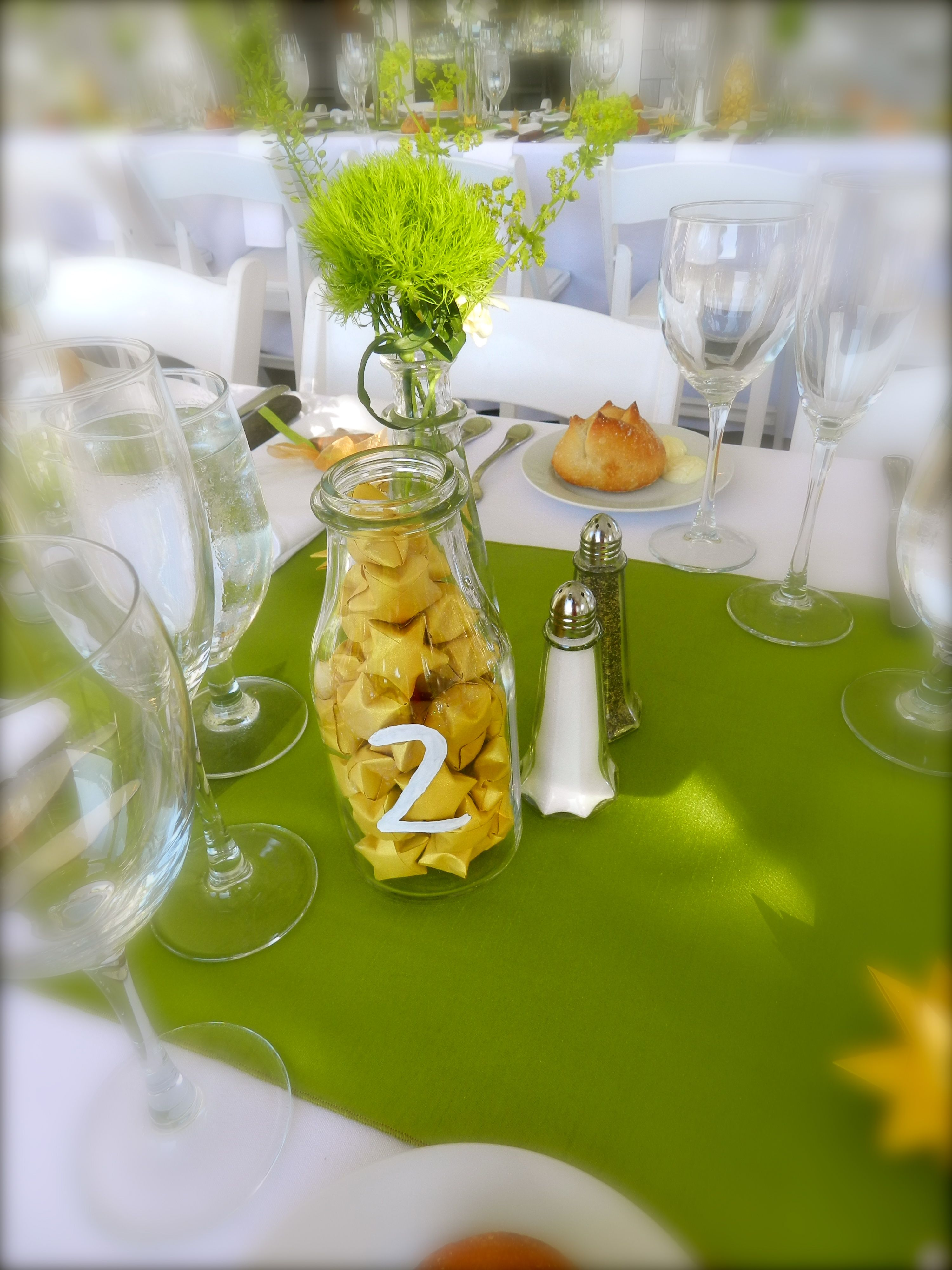 Cape Cod Weddings. Beach Weddings. Table Scape. Lime Green and Gold ...
