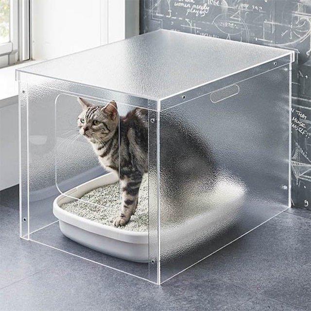 Minimalist Acrylic Cat Litter Cover In 2020 Pisici Animale De Companie Case