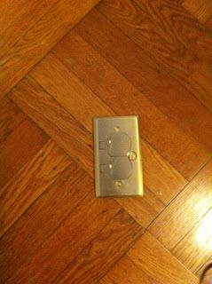 floor outlets in the family room in the addition.