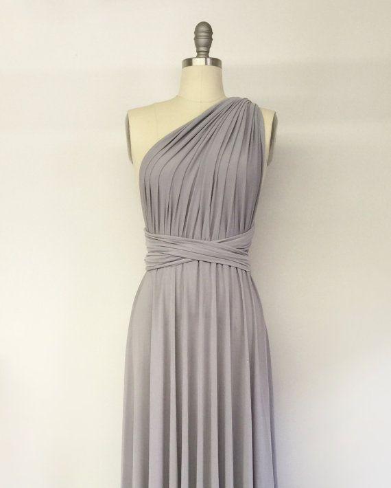 Silber leicht grau kurze Infinity Kleid Cabrio formale ...