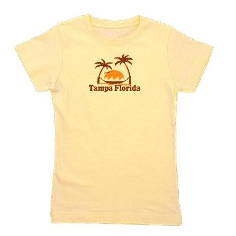 Tampa Florida - Palm Trees Design. Girls Tee on CafePress.com