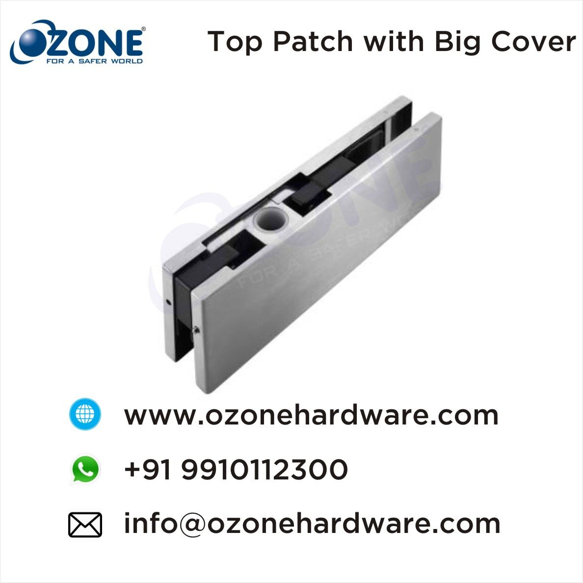 Top Patch With Big Cover Size Of Ocfh 105 Hydraulic Patch For Glass Doors Concealed Door Closers Hydraulic Patches Cover Size Hydraulic Systems
