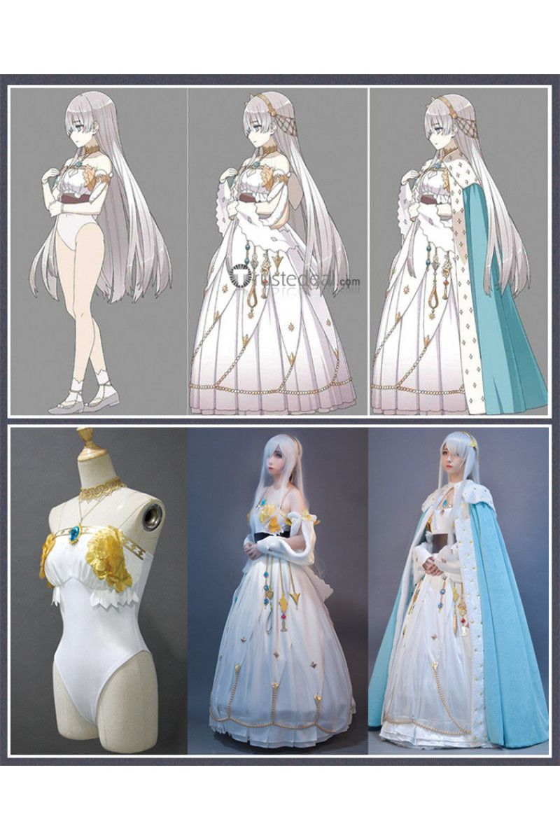 Fategrandorder Fgo Grand Duchess Caster Anastasia Nikolaevna Romanova White Blue Cosplay Costume Cosplay Outfits Cosplay Costumes Anime Outfits Anastasia made appearance during the fgo2 first chapter of cosmos in the lostbelt. cosplay costumes anime outfits