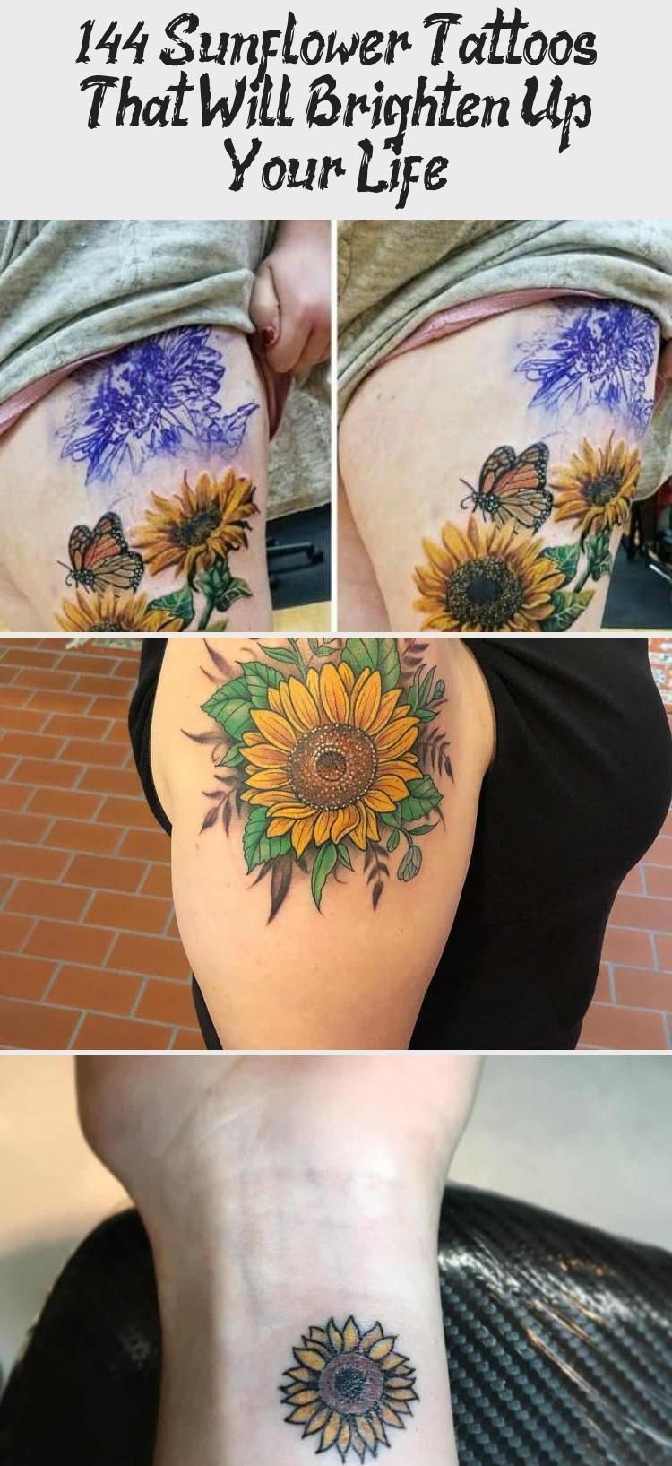 Photo of 144 Sunflower Tattoos That Will Brighten Up Your Life #sunflowertattoosSleeve #T…