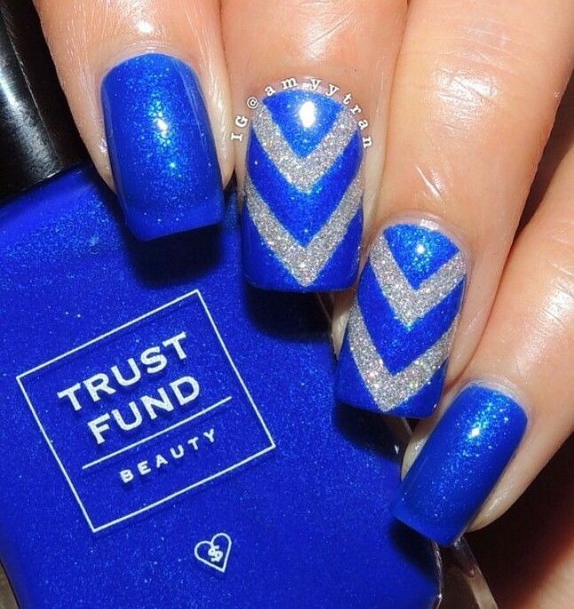 Trust Fund Beauty Denim With Diamonds A Bright Cobalt